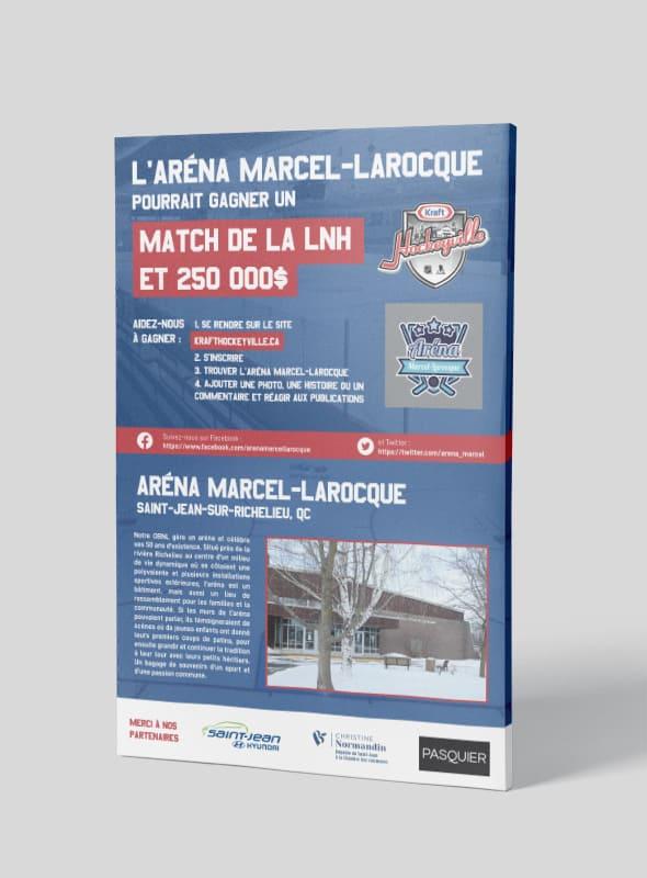 Affiche Aréna Marcel-Larocque
