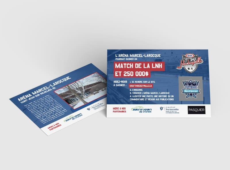 Carton flyers Aréna Marcel Larocque