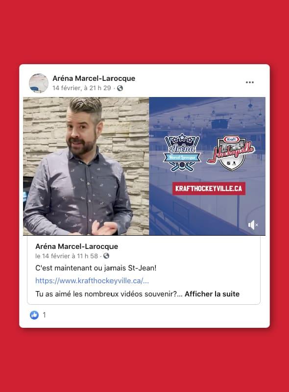 Production vidéo - Aréna MArcel-Larocque
