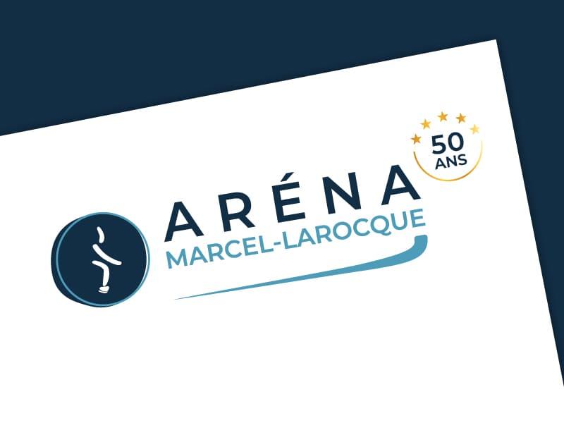 Logo Aréna Marcel-Larocque - 50 ans
