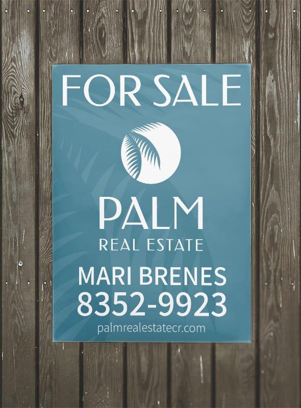 Affiche extérieur - Palm Real Estate