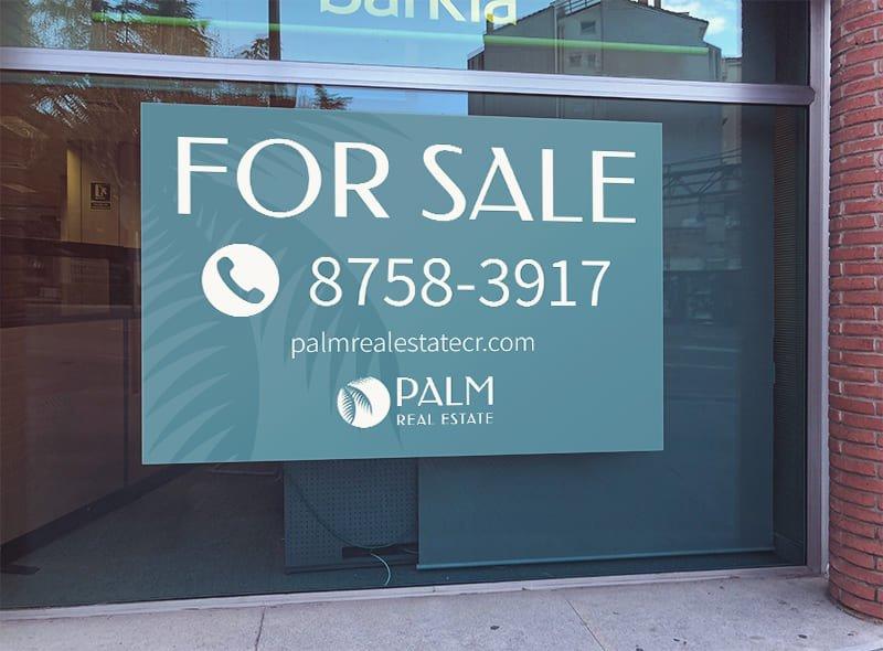 Affiche fenêtre - Palm Real Estate
