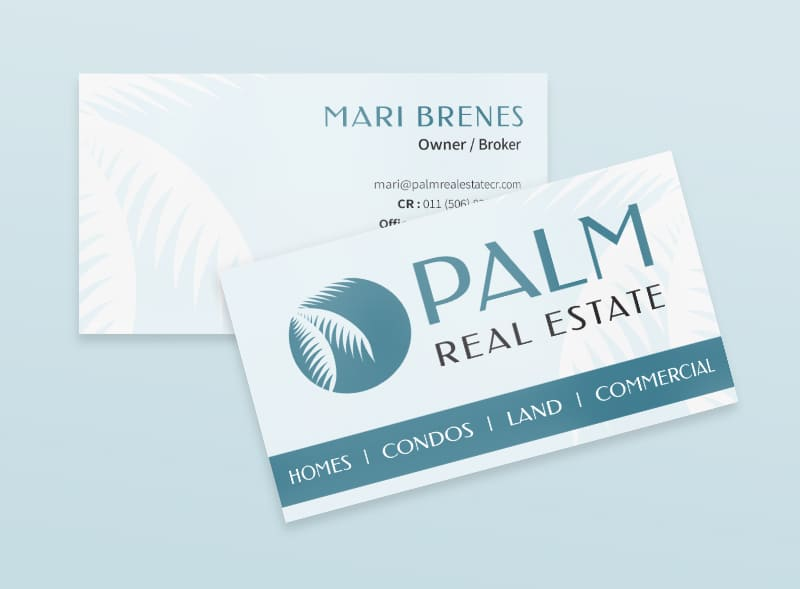 Carte d'affaire - Palm Real Estate